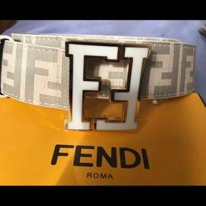 Fendi belt White gold trim